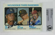 Mike Schmidt And Ron Cey Signed 1973 Topps Rookie Card 615 Hof🔥beckett Authentic