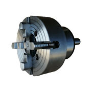 10 10 Inch 4 Jaw Lathe Chuck With Mt5 Shank Rotating Plate Mt5250r4j