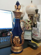 6 Decanter Regal China Creation James 15 In Tall By 5 In Wide Cobalt Blue And