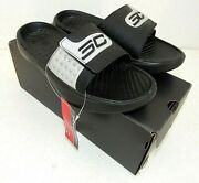 Under Armour Curry Iv Slides Black 3000037-002 New In Box
