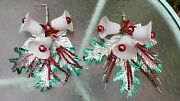 Vintage Christmas Wall Decorations Bells Mercury Glass Collectible Match Pair