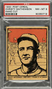 Christy Mathewson 1930 Post Cereal - Extremely-rare🔥mint🔥 Psa 8 Nm-mt