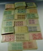 301 Us Stamps Plate Blocks Of 4 3 Cent Stamp 1940's 1204 Stamps