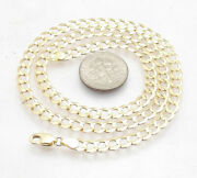 4.7mm Solid Miami Cuban Curb Link Chain Necklace Real 10k Yellow Gold 16 30