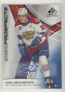 2019-20 Upper Deck Sp Game Used Chl Edition Blue Jake Neighbours 74 Auto