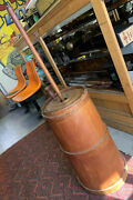 Vintage Large 24 Butter Churn With Mixing Stick Complete And Lid