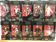 Star Wars The Black Series 6 Inch Red Line 71-80 New Sealed Dengar, Rio Durrant
