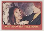 1976 Topps Shock Theater Cream Back Look Ma No Fillings 32 C9a
