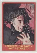 1976 Topps Shock Theater Cream Back I Ordered Steak Not Stake 45 C9a