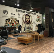 3d Hair Stylist P99 Barber Shop Wallpaper Mural Self-adhesive Removable Amy