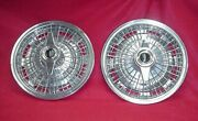 2 Original 65 1965 Oldsmobile Olds F85 Chrome Spinner Wire Hubcaps Gm