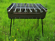 Portable Barbeque Bbq Kabab Shashlyk Grill Mangal Мангал Stove 8 Skewer Brazier