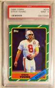 1986 Topps 374 Steve Young Rookie Rc Psa 9 Mint Hof 49ers Gorgeous Card
