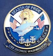 Awesome 4 Usn Navy Cpo Chiefs Mess Challenge Coin Uss George Washington Cvn-73