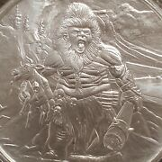 1 Oz .999 Silver Frost Giant Bu Nordic Creatures 2 Viking Valkyrie Bigfoot New