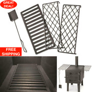Outdoor Wood Stove Accessory Bundle Guide Gear Scoop Stove Grate 2 Stove Racks