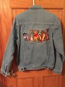 Womens Disney Denim Jacket With Winnie The Pooh And Family Size Small