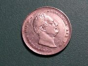 1834 Great Britain One Shilling Silver Foreign Coin.choice Xf. Free Shipping