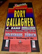 Rory Gallagher The Return Of Swiss Concert Poster 1992 Zurich