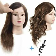 Ersiman Professional Female Cosmetology Mannequin Head With Hair 100 Human Hair