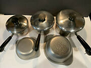 Revere Ware Clinton Il Stainless Pan Set 1 1 1/2 2 Steamer And Double Boiler