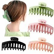 Big Claw Clips 4 Inch Nonslip Hair Clip Banana Large Matte Rubber For Women And