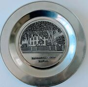 Collectible 11 Silver Pewter Plate Longfellow Home 1785-1976