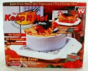 The Original Keep It Hot Microwaveable Hot Plate As Seen On Tv