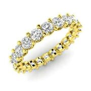 2.00 Ct Real Certified Diamond Engagement Eternity Band 14k Yellow Gold Size 7