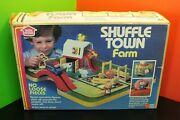 Hasbro 1984 Shuffle Town Farm Playset Incomplete In Box See Pictures And Desc