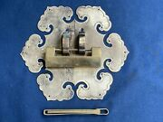 Vintage Antique Chinese Brass Furniture Mounted Handles And Lock Made Hong Kong