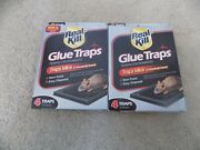 Lot Of 2 Real Kill Glue Mice And Insect Traps Package Of 4--free Shipping