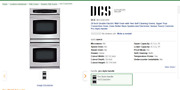 Dcs 30 Inch Double Electric Wall Oven With Two Self-cleaning Ovens