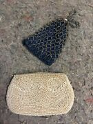 Two Antique Beaded Purses-one Missing Tie