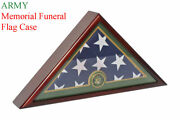 Army Flag Display Case Box 5and039x9.5and039 Burial - Funeral - Veteran Flag Case