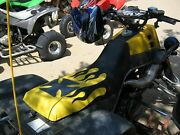 Yamaha Banshee Seat Cover Black Flame And Yellow Color Design Seat Cover