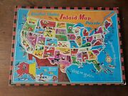 Vintage United States Inlaid Map Tray Puzzle Saalfield 13 X 9.5 50 States