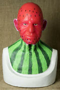 Silicone Mask Mr Watermelon Halloween Masks Old Man Realistic, Hand Made