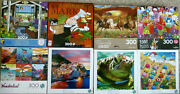 Lot 8 Ceaco / Buffalo / Cra-z-art 300 Large Piece Puzzlesall Complete