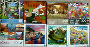 Lot 8 300 Large Piece Puzzles Ceaco / Buffalo / Cra-z-art All Complete