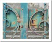 Azure Iron Gate Art Print / Canvas Print. Poster Wall Art Home Decor - F