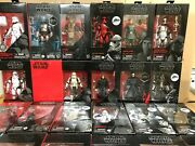 Star Wars The Black Series 6 Inch Action Figures 2017-2020 New Sealed