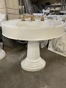 Victorian Style Pedestal Sink Oversized Cast-iron With Enamel 33.5 Wx23d X 31t