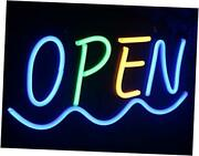 Led Open Neon Light Sign,19 X 10 Inch Open Signs For Blue/green / Yellow