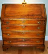 Antique 18th Century New England Drop-front Desk Stunning Patina