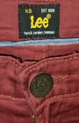 Lee Jeans W34 L31 Brooklyn Straight Stretch Red 1889 The H.d Lee Merc Company