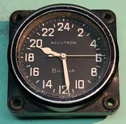 Bulova Accutron Aircraft Panel Clock Cold War History Used In Space And Aircraft