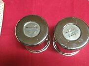 American Racing Stainless Steel 8 Lug Center Caps 6 Long Two Pieces