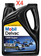 4 Gallon Mobil Delvac 1300 Super Hd Synthetic Blend Diesel Engine Oil Sae 15w-40