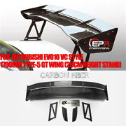 For Mitsubishi Evo10 Vc Style 1700mm Type-5 Carbon Gt Wing Spoiler 29cm Height
